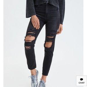 American Eagle Mom Jeans (6 Short)